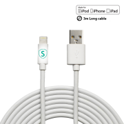 SiGN SiGN Lightning-kabel til iPhone / iPad, MFi-sertifisert- 3 m