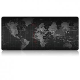 Taltech World Map Musematte 80x30cm - Svart