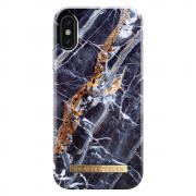 iDeal of Sweden IDEAL FASHION CASE iPhone X - MIDNIGHT BLUE MARBLE