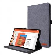 Taltech Cloth Texture Etui for Lenovo Tab M10 Plus - Grå