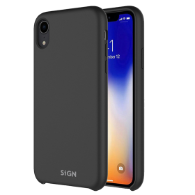 SiGN SiGN Liquid Silicone Case for iPhone XS Max - Svart