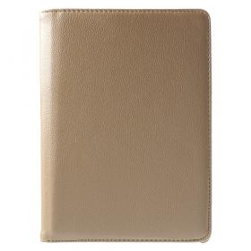 """Taltech Litchi Leather Etui med Roterende Stativ for iPad Pro 9.7"""" - Gull"""