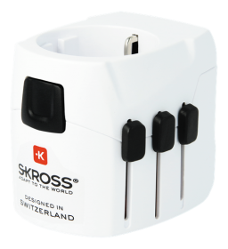 SKROSS SKROSS World Adapter, 100+ land & USB