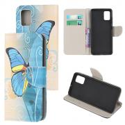 Taltech Lommeboketui for Samsung Galaxy A02s - Blue Butterfly