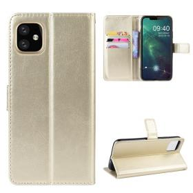 Taltech Crazy Horse Lommeboketui for iPhone 12 Pro Max - Gull