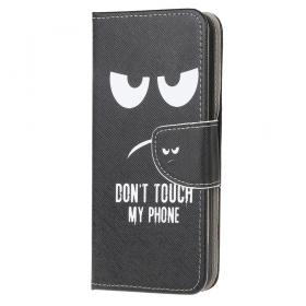 Taltech Lommeboketui for Samsung Galaxy A52 4G/5G & A52s 5G - Don't Touch My Phone