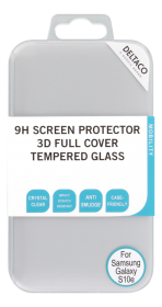 DELTACO DELTACO Skjermbeskyttelse 2.5D Herdet glass for Galaxy S10e - Transparent