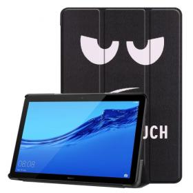 Taltech Tri-Fold Angry Face Etui for Huawei MediaPad T5 10