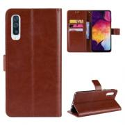 Taltech Crazy Horse Lommeboketui for Samsung Galaxy A50 - Brun