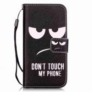 "Taltech Skinnetui ""Don't touch my phone"" til iPhone 7/8"