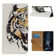 Taltech Lommeboketui for Samsung Galaxy S21 Ultra - Tiger