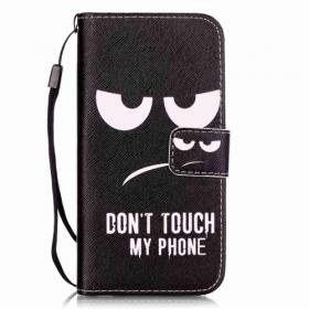 """Taltech Skinnetui """"Don't touch my phone"""" til iPhone 7/8"""