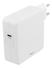 DELTACO Deltaco 87W Lader, USB-C PD, Hurtiglading, MacBook, iPhone m.fl.