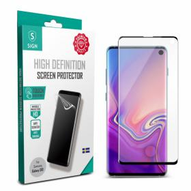 SiGN SiGN 3D Curved Skjermbeskytter Herdet Glass for Samsung Galaxy S10