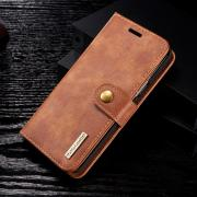 DG.MING Lommeboketui 2-i-1 Split Leather for Samsung Galaxy S9 - Brun