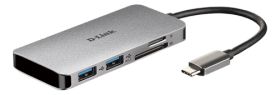 D-Link D-Link 6?in?1 USB?C Hub with HDMI/Card Reader/Power Delivery