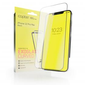 """Copter Copter Exoglass Curved Frame for iPhone 12 Pro Max 6.7"""" - Svart"""