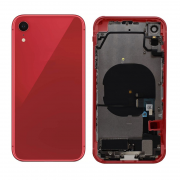 iPhone XR Komplett Bakside i Glass med Ram - Rød