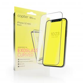 """Copter Copter Exoglass Curved Frame for iPhone 12 Mini 5.4"""" - Svart"""