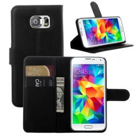 Taltech Litchi Lommeboketui for Samsung Galaxy S6