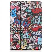 Taltech Tri-fold Etui for Lenovo Tab M10 Plus - Graffiti