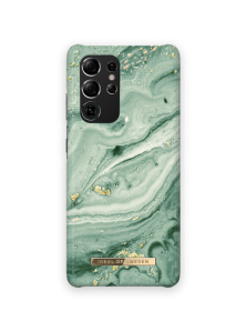 iDeal of Sweden iDeal Fashion Case for Samsung Galaxy S21 Ultra - Mint Swirl Marble