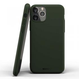 Nudient Nudient Thin Deksel for iPhone 11 Pro Max - Majestic Green