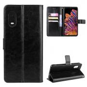 Taltech Crazy Horse Lommeboketui for Galaxy Xcover Pro - Svart