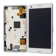 Sony Xperia Z3 Compact Skjerm LCD-Display med ramme, Hvit