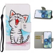 Taltech Lommeboketui for Samsung Galaxy S21 Ultra 5G - Cute Cat
