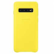 Samsung Samsung Leather Cover for Samsung Galaxy S10 - Gul