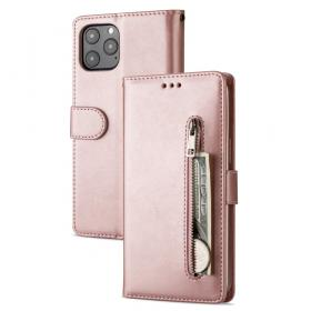 Taltech Etui med Kortlomme for iPhone 12 Pro Max - Rosa Gull