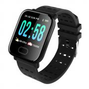 Taltech A6 Smartwatch for Trening & Helse - Svart