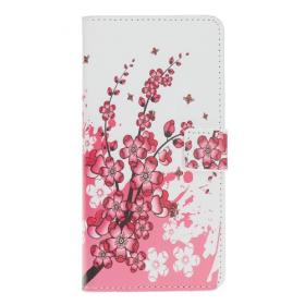 Taltech Lommeboketui for Samsung Galaxy A20e - Rosa Blomster