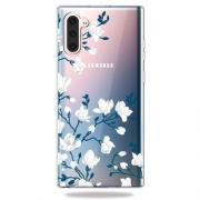 Taltech TPU Deksel for Samsung Galaxy Note 10 - Hvite Blomster
