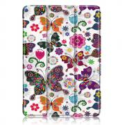 Taltech Tri-Fold Etui for iPad Air 10.9 (2020) - Butterfly & Flowers