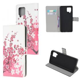 Taltech Etui for Samsung Galaxy A42 - Pink Flower