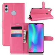 Litchi Lommeboketui for Huawei Honor 10 Lite / P Smart (2019) - Rosa