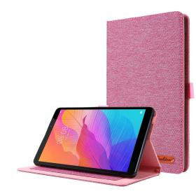 Taltech Cloth Texture Etui for Huawei MatePad T8 - Rosa