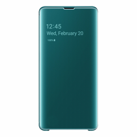Samsung Samsung Clear View Cover til Samsung S10 Plus - Gronn (OUTLET-VARE)