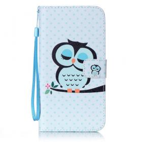 Taltech Lommeboketui for iPhone 7 Plus/8 Plus - Owl On Branch