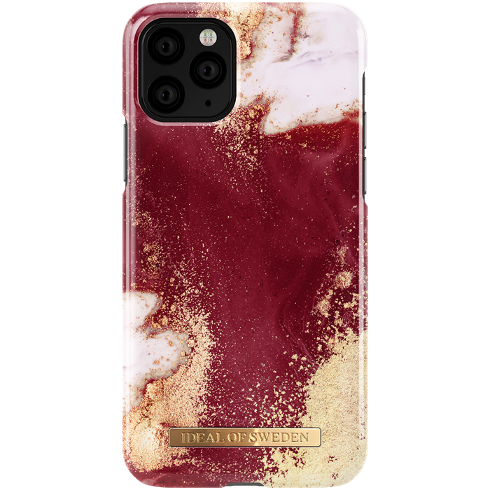 iDeal of Sweden iDeal Fashion Deksel for iPhone 11 Pro - Golden Burgundy Marble