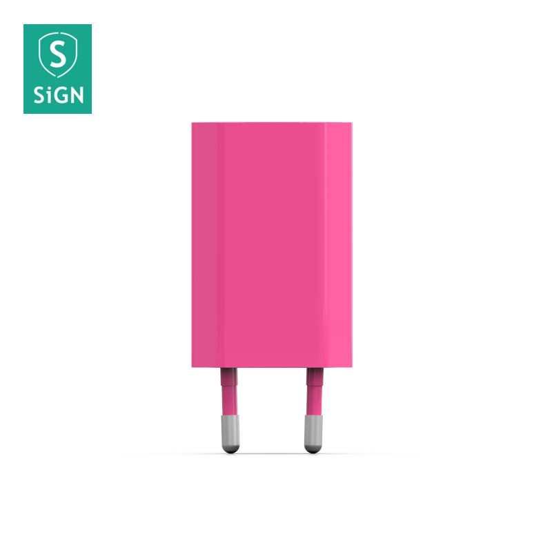 SiGN SiGN Vegglader for iPhone, Android m.fl. 1A - Rosa