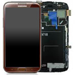 Samsung Samsung Galaxy Note 2 Skärm med LCD-display, Brun - Original